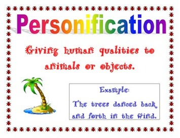 descriptions alliteration and personification figurative language